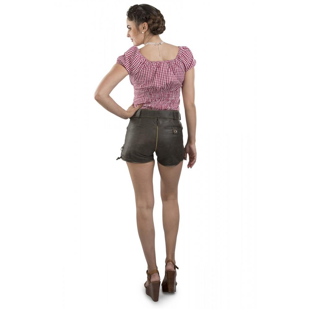 21aafacde71b0 Damen Lederhose Paulina - vintage / mit Gürtel
