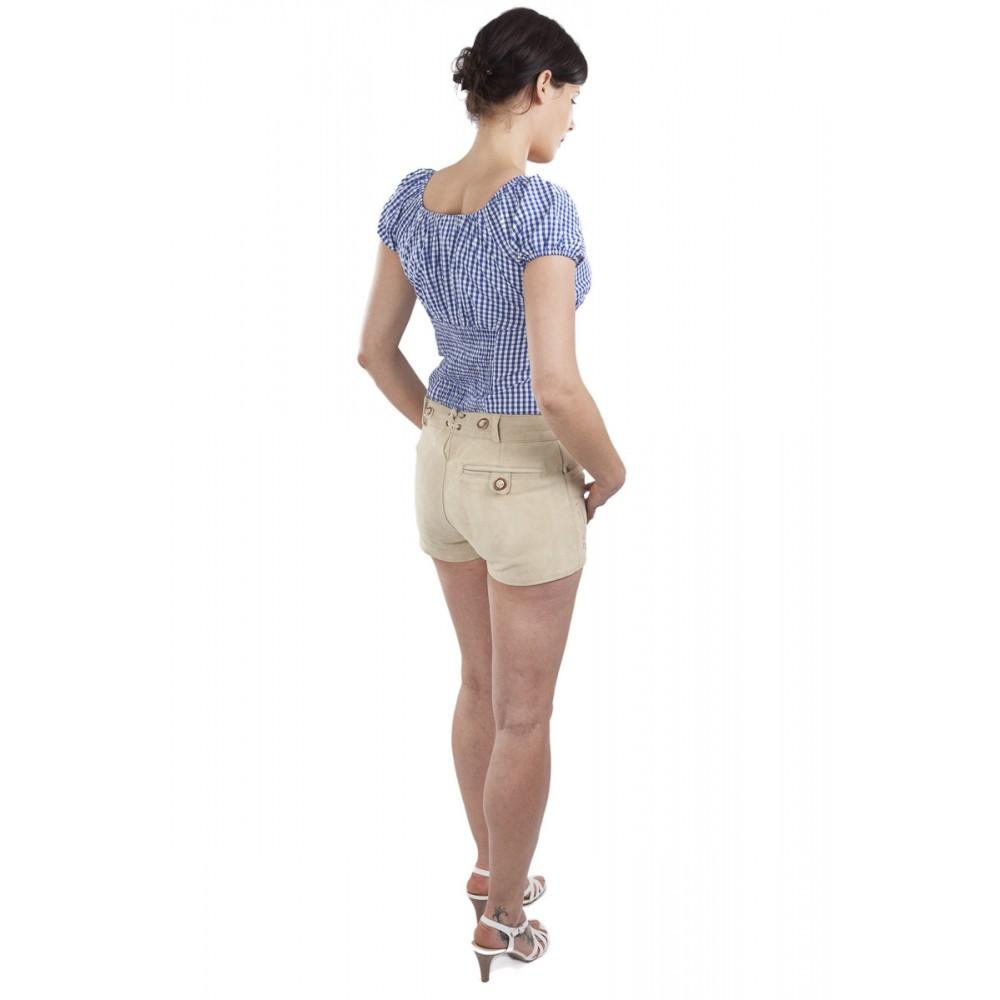 helle n Farbe 50% Preis Neue Produkte Damen Lederhose Mia - beige