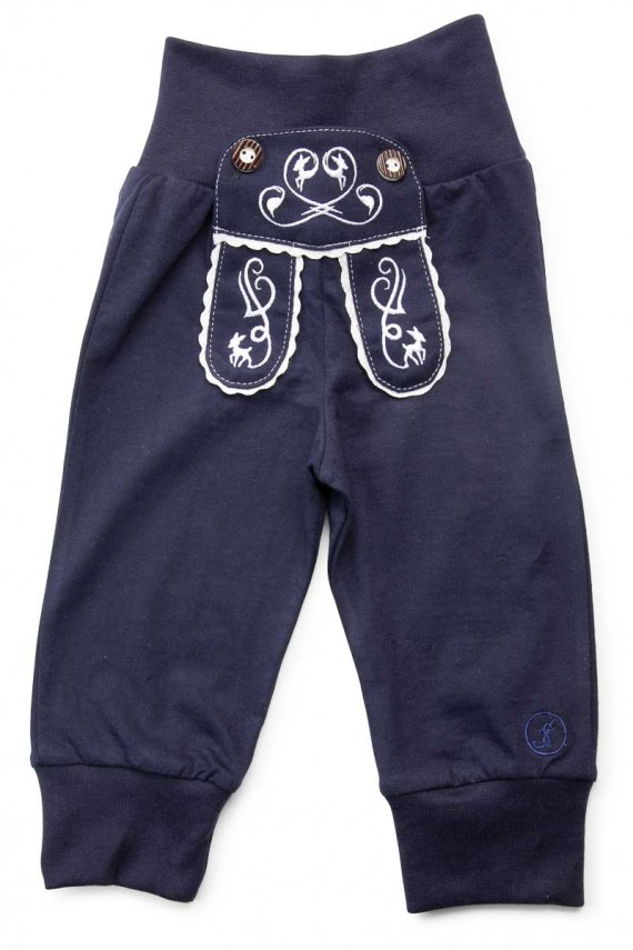 "Kinder-Jogginghose ""Reh"" im Lederhosen Design - dunkelblau"