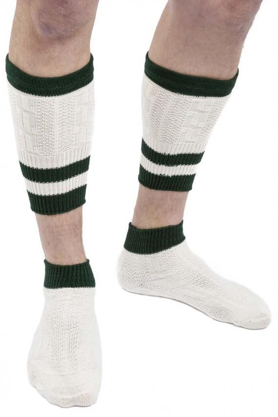 Trachten Socken Loferl grün/beige