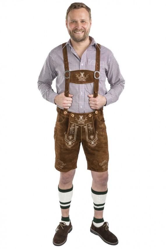 Herren Trachtenlederhose Oktoberfest
