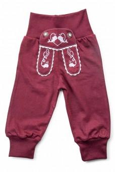 "Kinder-Jogginghose ""Waal"" im Lederhosen Design - bordeaux"