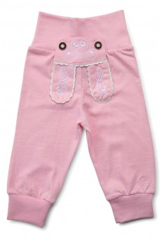 """Kinder-Jogginghose """"Reh"""" im Lederhosen Design - rosa"""