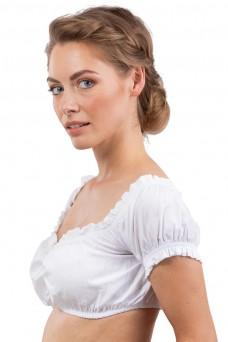 Damen Dirndlbluse Juliana - weiss