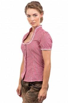 Damen Trachtenbluse Jasmin - rot/weiss