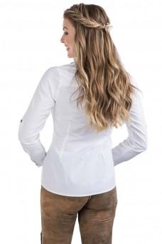 Damen Trachtenbluse Bergstern - weiß