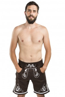 Herren Jogginghose Adam - kurz, schwarz