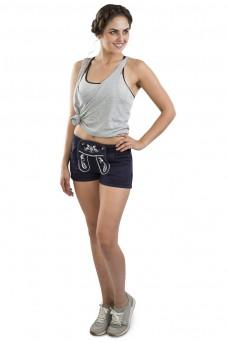 Damen Jogginghose WiesnFit - blau, kurz