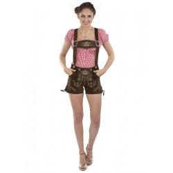 Damen Lederhose Hotpants