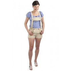 Damen Trachtenhose Jugendstil beige kurz